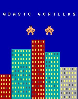 QBasic Gorillas DOS front cover