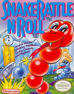 Snake Rattle 'n' Roll NES  front cover