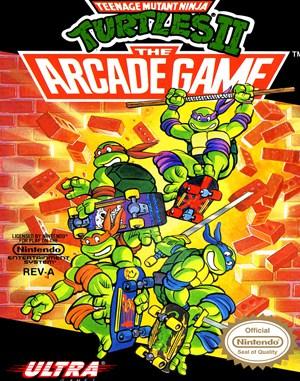 Teenage Mutant Ninja Turtles II: The Arcade Game NES  front cover