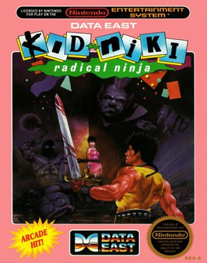 Kid Niki: Radical Ninja NES  front cover