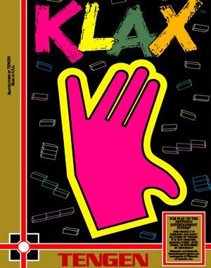 Klax NES  front cover