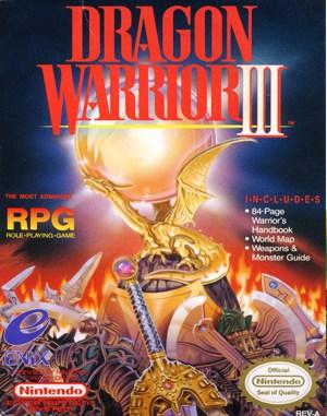 Dragon Warrior III NES  front cover