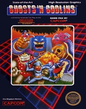 Ghosts 'N Goblins NES  front cover