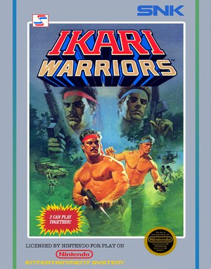Ikari Warriors NES  front cover