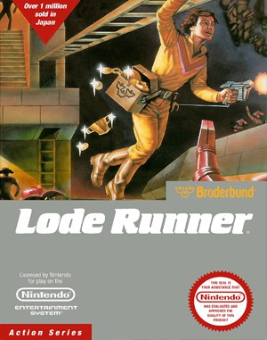 Lode Runner NES  front cover