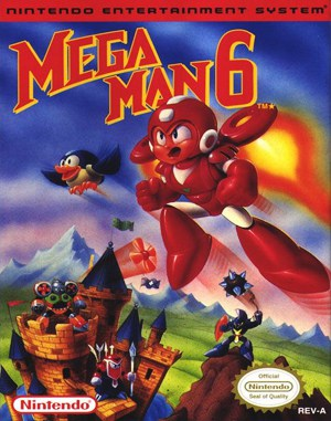 Mega Man 6 NES  front cover