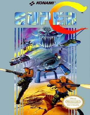 Super Contra NES  front cover