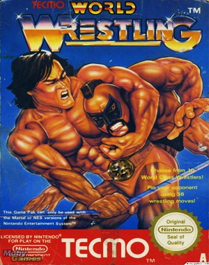 Tecmo World Wrestling NES  front cover
