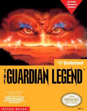 The Guardian Legend NES  front cover