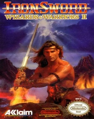 IronSword: Wizards & Warriors II NES  front cover