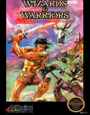 Wizards & Warriors NES  front cover