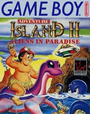 Adventure Island II: Aliens in Paradise Game Boy front cover