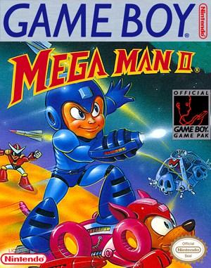 Mega Man II Game Boy front cover