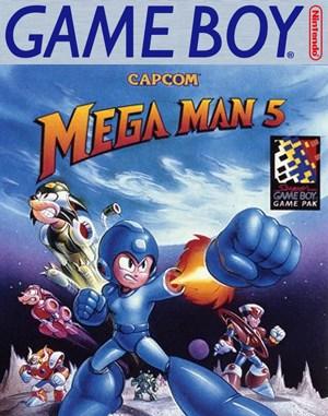 Mega Man V Game Boy front cover