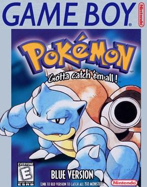 Pokémon Blue Version Game Boy front cover