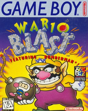 Wario Blast featuring Bomberman! Game Boy front cover
