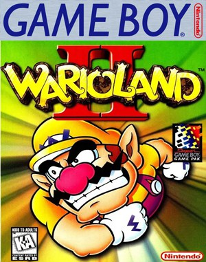 Wario Land II Game Boy front cover