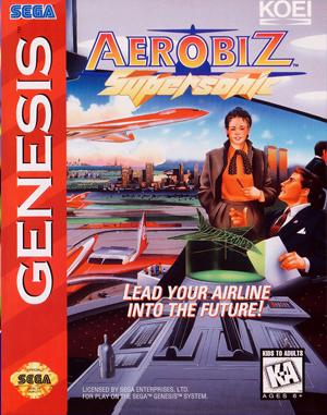Aerobiz Supersonic Sega Genesis front cover