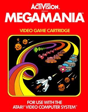 MegaMania Atari-2600 front cover