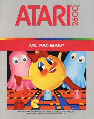 Ms. Pac-Man Atari-2600 front cover